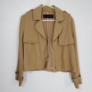 (Zara) Tan Short Trench Coat